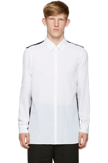 Ann Demeulemeester - Black & White Colorblocked Shirt