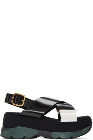Marni - Black Platform Crossover Sandals