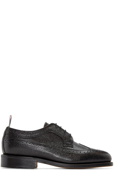 Thom Browne - Black Pebbled Leather Brogues