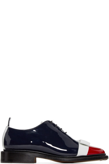 Thom Browne - Tricolor Patent Leather Bow Oxfords