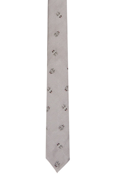 Thom Browne - Grey Classic Longwing Tie