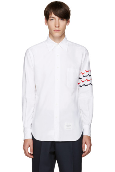 Thom Browne - White Embroidered Hector Shirt