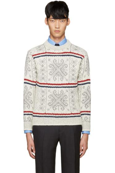 Thom Browne - Ivory Fair Isle Sweater