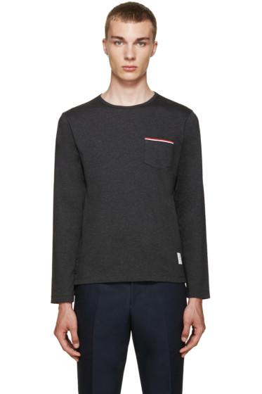Thom Browne - Grey Pocket T-Shirt