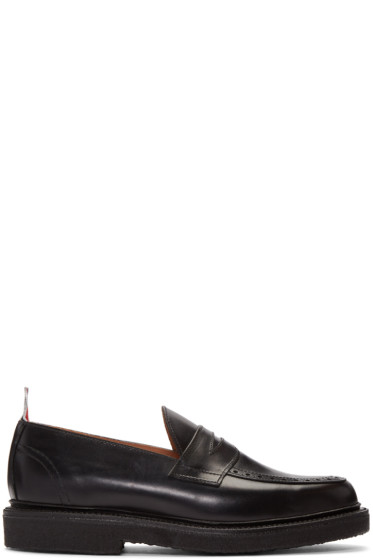 Thom Browne - Black Penny Loafers