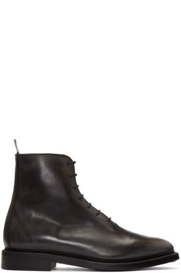 Thom Browne - Black Wholecut Boots