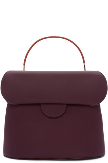 Roksanda - Burgundy Leather Top Handle Bag
