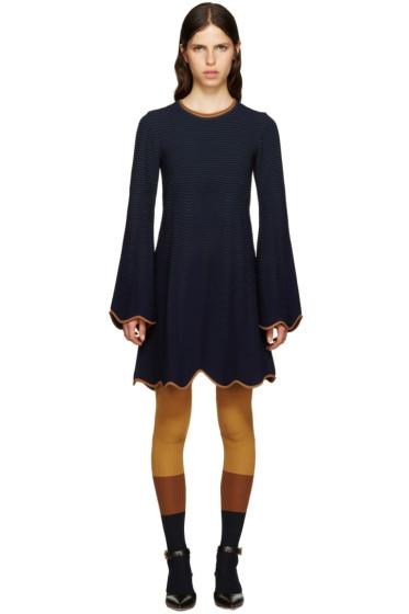 Roksanda - Navy Cotton Mix Klindworth Knit Dress