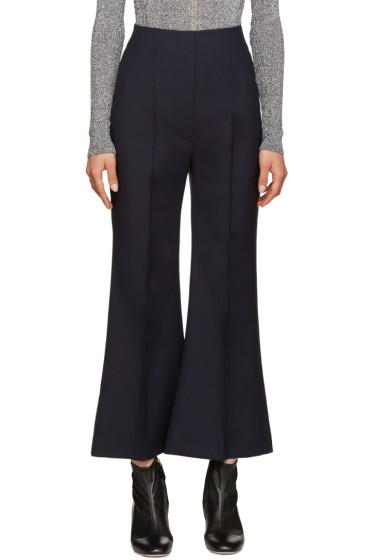Roksanda - Navy Wool Gardham Trousers