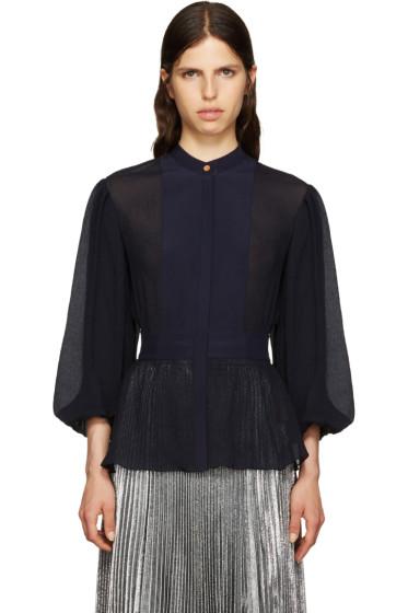 Roksanda - Navy Silk Eclet Blouse