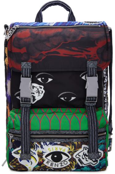 Kenzo - Nylon Multi Print Backpack