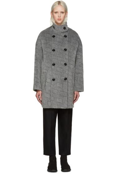Kenzo - Grey NY Stripes Coat