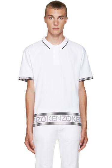 Kenzo - White Logo & Stripes Polo