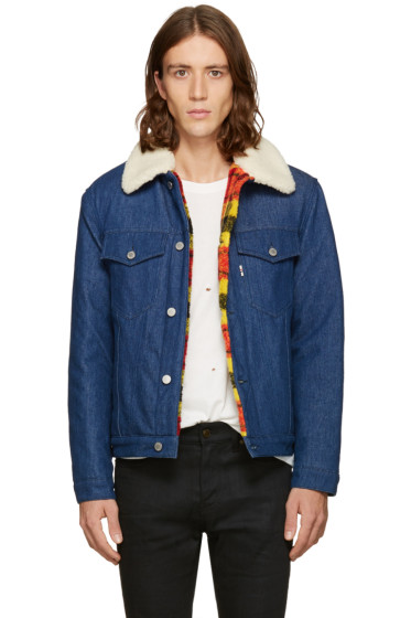 Maison Kitsuné - Blue Denim Trucker Jacket