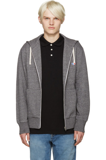 Maison Kitsuné - Grey Fox Zip-Up Hoodie