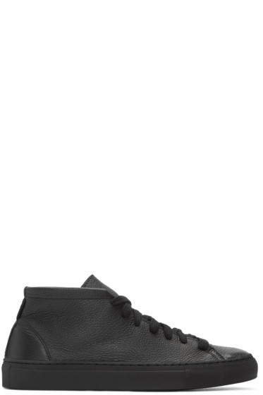 Diemme - SSENSE Exclusive Black Deerskin Loria Sneakers