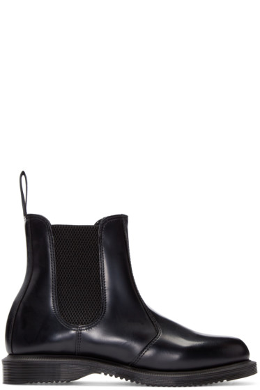 Dr. Martens - Black Flora Chelsea Boots