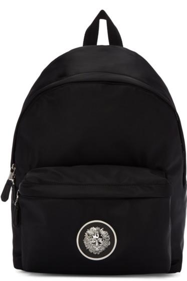 Versus - Black Nylon Medusa Backpack
