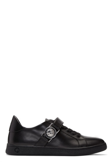Versus - Black Lion Medallion Sneakers