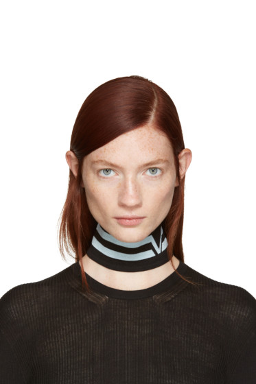 Versace - Black Athletic Stripes Collar