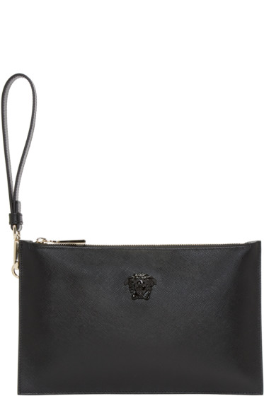 Versace - Black Leather Small Medusa Pouch