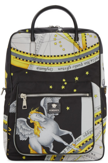 Versace - Multicolor Constellations Print Backpack
