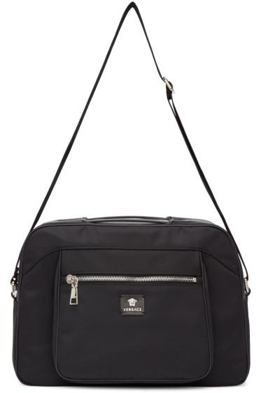 Versace - Black Nylon Duffle Bag
