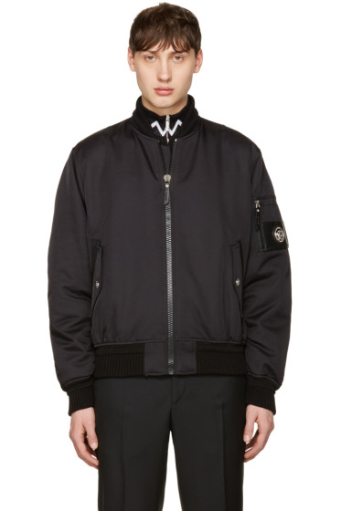 Versace - Black Patch Bomber Jacket