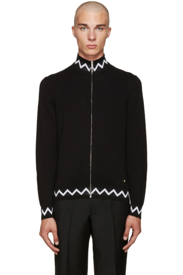 Versace - Black Zig Zag Sweater