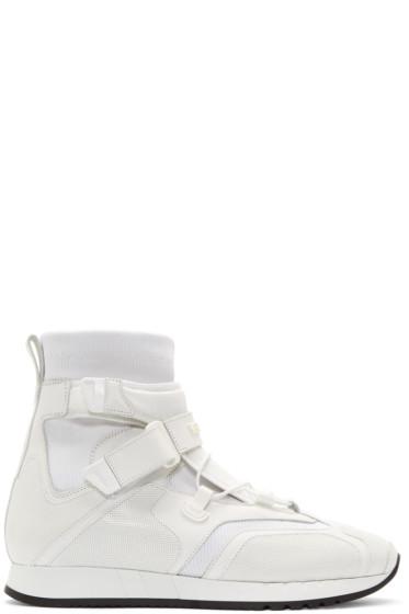 Versace - White Runway High-Top Sneakers