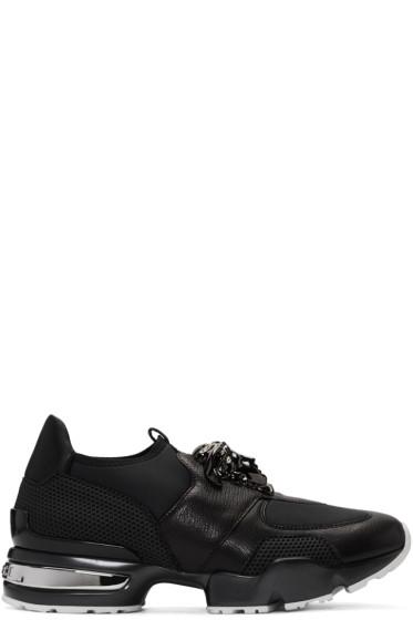 Versace - Black Neoprene & Leather Medusa Sneakers