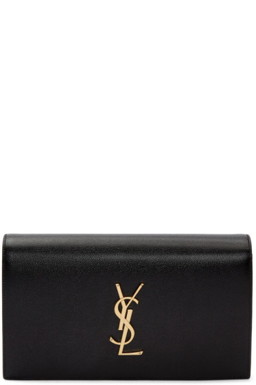 Saint Laurent - Black Monogram Kate Clutch