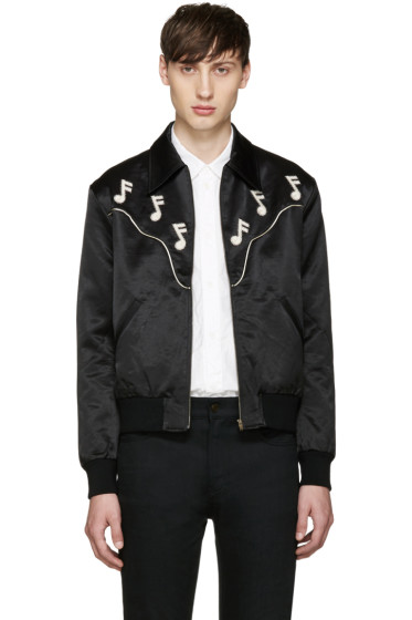 Saint Laurent - Black Music Note Western Jacket