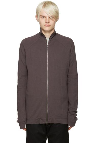 Julius - Grey Zip-Up Sweater