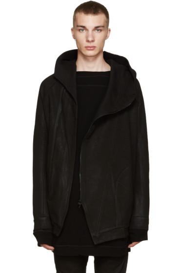 Julius - Black Asymmetric Hoodie