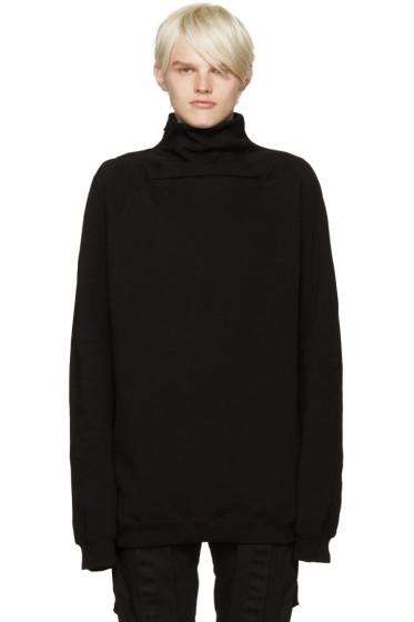 Julius - Black Funnel Neck Sweatshirt
