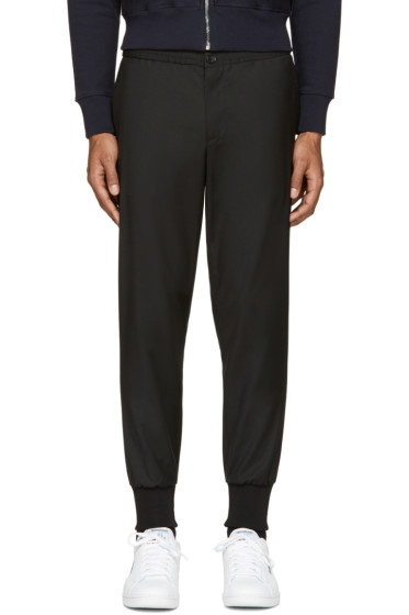 PS by Paul Smith - Black Wool Track Trousers