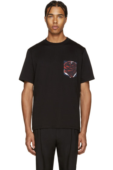 PS by Paul Smith - Black Floral Pocket T-Shirt