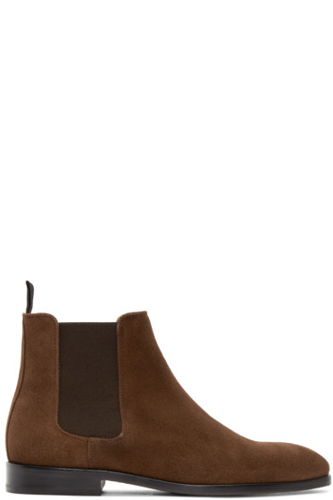 PS by Paul Smith - Brown Suede Gerald Chelsea Boots