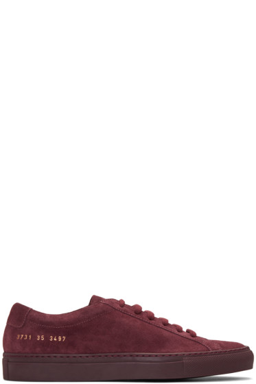 Woman by Common Projects - Burgundy Original Achilles Sneakers