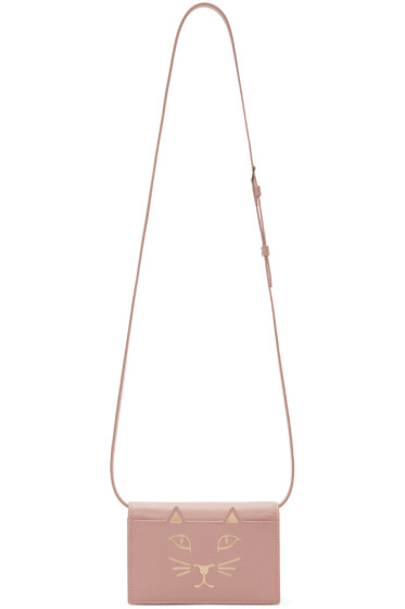 Charlotte Olympia - Pink Leather Feline Shoulder Bag
