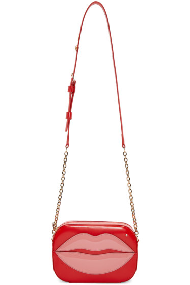Charlotte Olympia - Red Patent Leather Pouty Bag