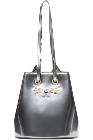 Charlotte Olympia - Silver Feline Bucket Bag