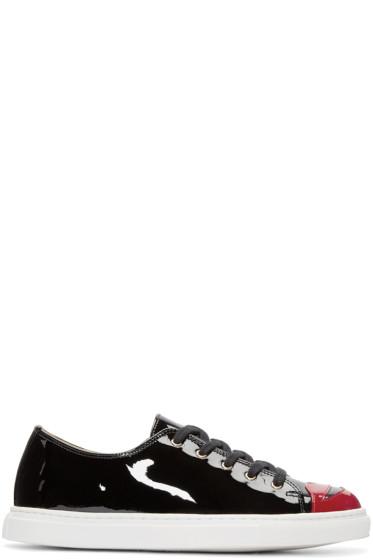 Charlotte Olympia - Black Kiss Me Sneakers