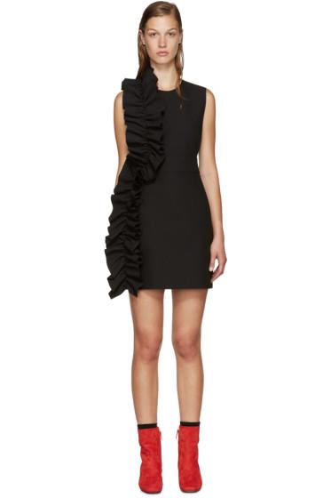 MSGM - Black Crepe Ruffled Dress