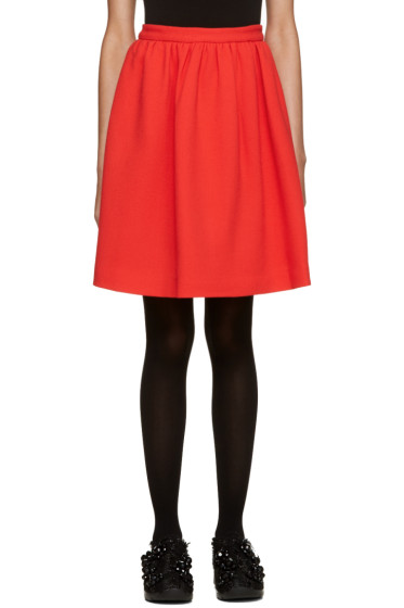 MSGM - Red Circle Miniskirt