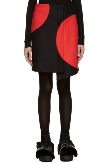 MSGM - Black & Red Wrap Skirt