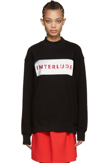 MSGM - Black 'Interlude' Sweatshirt