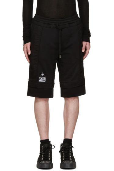KTZ - Black Logo Patch Lounge Shorts
