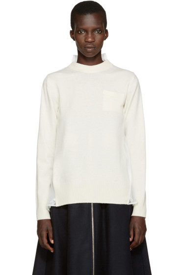 Sacai - Off-White Hybrid Pullover